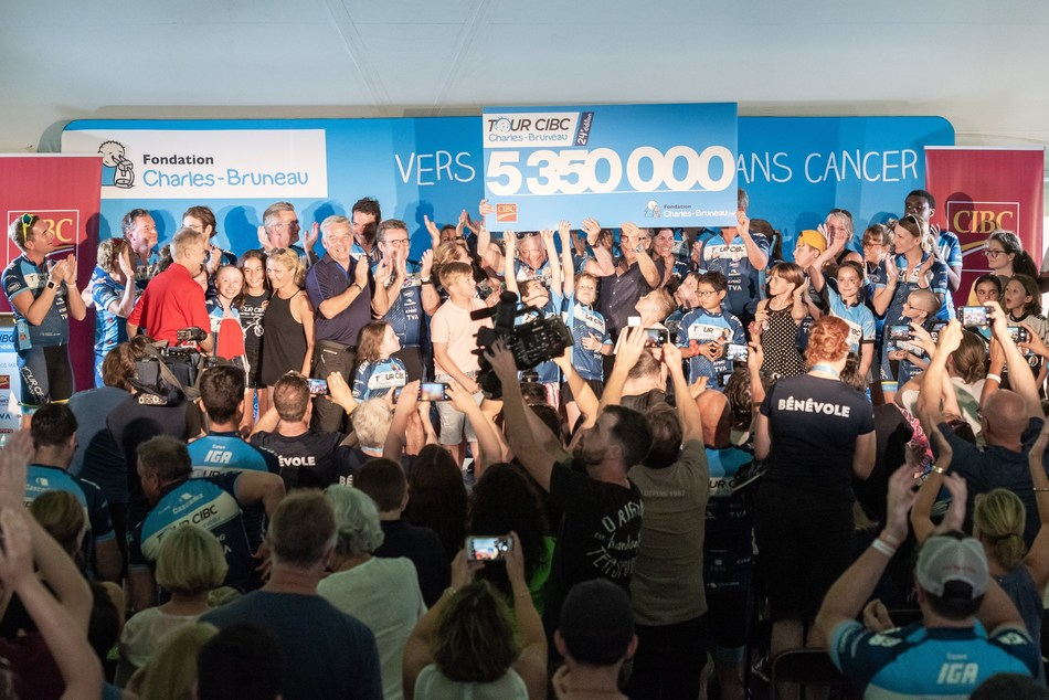 Astounding success for the 24th edition of the Tour CIBC Charles-Bruneau - $5 350 000 raised for children with cancer (CNW Group/Fondation Charles-Bruneau)