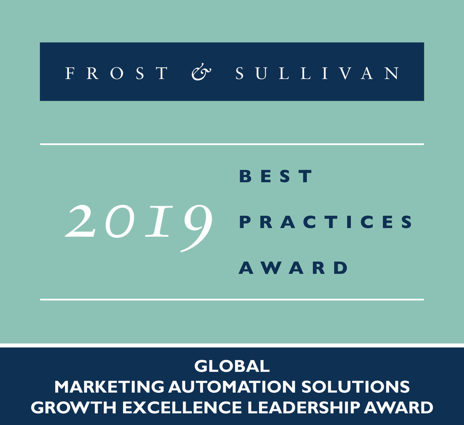 2019 Global Marketing Automation Solutions Growth Excellence Leadership Award (PRNewsfoto/Frost & Sullivan)