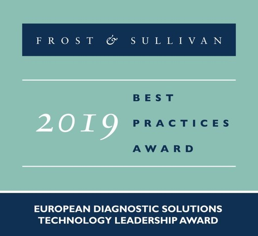 2019 European Diagnostic Solutions Technology Leadership Award (PRNewsfoto/Frost & Sullivan)