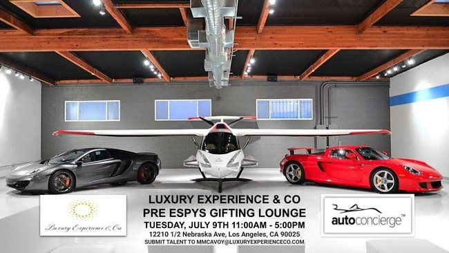 Luxury Experience & Co Announces The Ultimate Pre-ESPYS Athlete & Celebrity Gifting Lounge Experience