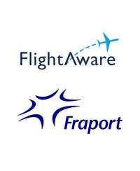 FlightAware and Fraport Logos