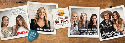Cracker Barrel is proud to partner with four female pillars in the country music industry, who have each selected emerging female artists or songwriters to lift up and mentor. Those pairings include the following, Karen Fairchild and Kimberly Schlapman partnering with Ingrid Andress, Brandi Carlile partnering with Tenille Townes, Trisha Yearwood partnering with songwriters Caitlyn Smith, Connie Harrington and Erik Dylan, and Hillary Scott partnering with Bailey Bryan.