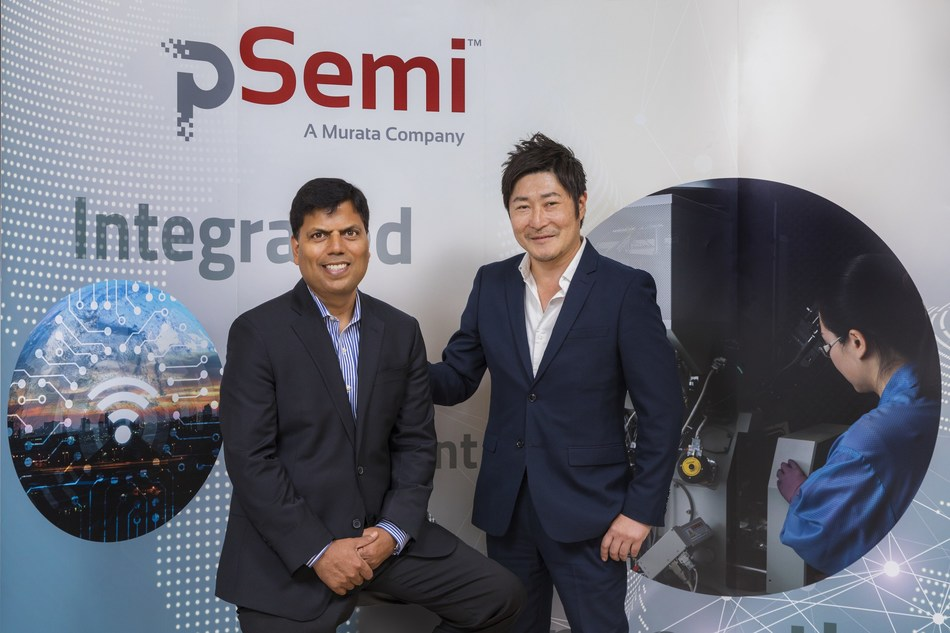 Sumit Tomar (left) and Go Maruyama (right) assume new leadership roles at pSemi. Effective July 1, Sumit Tomar is CEO, and Go Maruyama is senior vice president of administration.