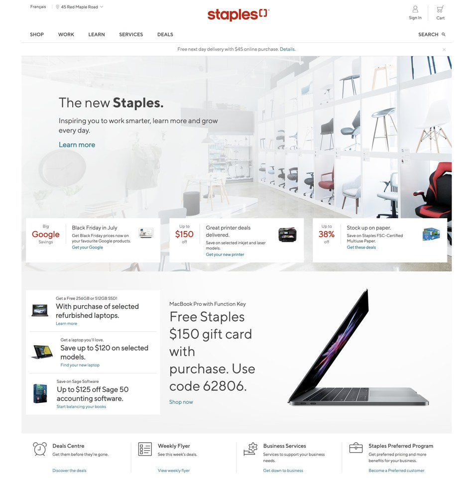 Staples Canada launches a new eCommerce experience on Shopify Plus. The Working and Learning Company comes to life digitally on staples.ca. (CNW Group/Staples Canada ULC)