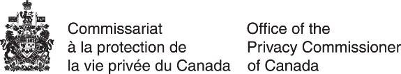 Logo : Commissariat à la protection de la vie privée du Canada (Groupe CNW/Commission d'accès à l'information)
