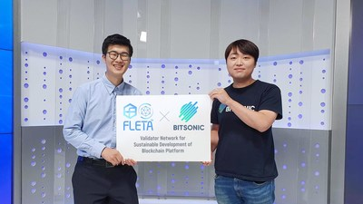 Paul Park, CEO of FLETA (Left) and Jinwook Shin, CEO at Bitsonic (Right)