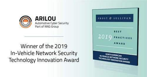 Arilou Automotive Cyber Security Awarded Frost & Sullivan's 2019 Best Practices Award for Technology Innovation