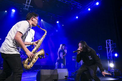 Taiwanese band LEO37+SOSS visited Mongolia on July 7th to deliver breathtaking performances. More Taiwanese musicians would participate in other music festivals abroad in the strategic alliance for more musical exchanges and performances. (PRNewsFoto/Taiwan Television Enterprise Lt)