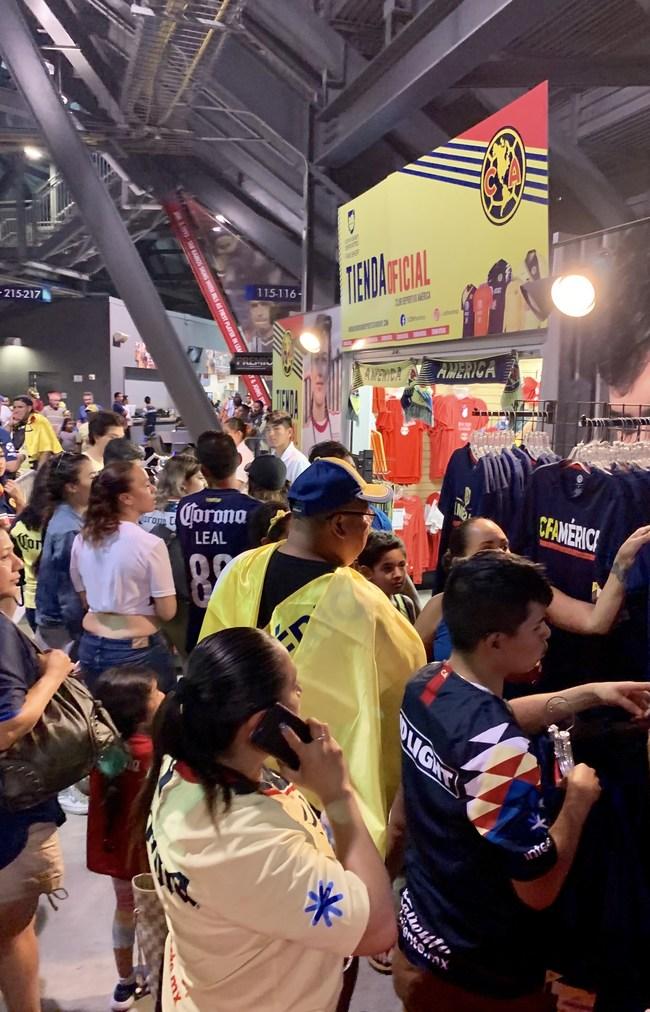 Univision Deportes Fan Shop at a stadium