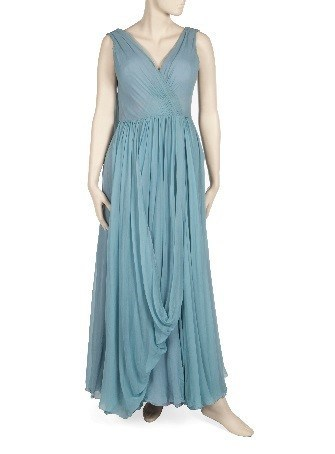 """Pale blue chiffon evening gown worn by Taylor to a film premiere of """"That's Entertainment"""""""