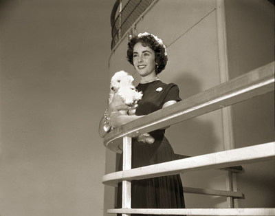 Elizabeth Taylor on a Cunard ship in the 1930s