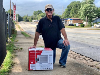 """In honor of its South Carolina employees, Electrolux donated more than $230,000 of its Frigidaire room air conditioners to needy families battling the summer heat. Recipient Tony Walters said he was """"so grateful."""" Electrolux will start production at its new $250 million refrigeration plant in Anderson, South Carolina soon."""