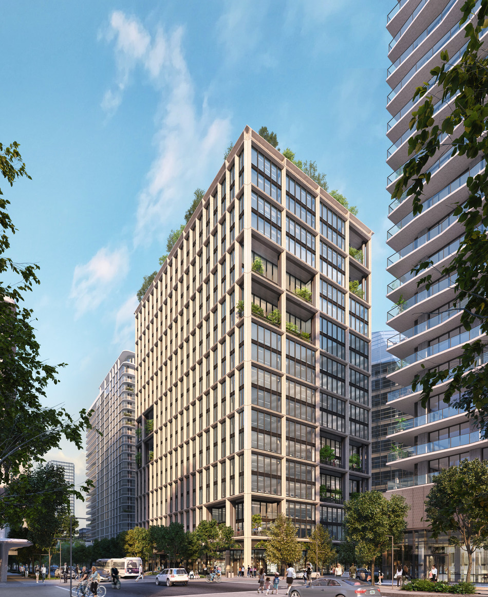 Designed by COOKFOX Architects, 1001 Water Street is the first new trophy office tower to break ground in Downtown Tampa in almost three decades.