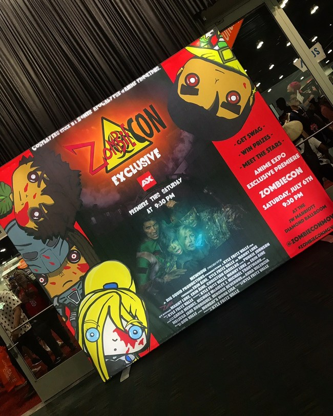 Welcoming con-goers is the impossible-to-miss 'ZombieCON' light box