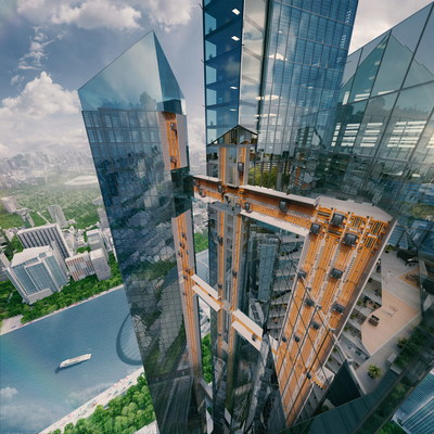 The MULTI revolution changes the way people move inside buildings, providing completely new perspectives for architects, real estate owners and passengers. By employing linear motors for each cabin, no ropes are needed at all - MULTI moves move vertically as well as horizontally.