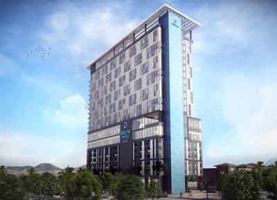 Cérémonie d'inauguration des travaux de construction du premier hôtel de la chaîne Delta Hotels by Marriott à Las Vegas