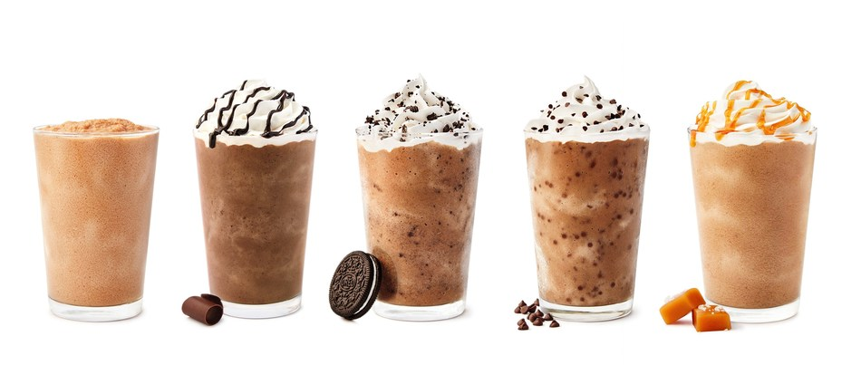 Tim Hortons celebrates the 20th anniversary of the Iced Capp with the Original Iced Capp and a delicious 2019 limited edition line up: Mocha Iced Capp, Oreo Iced Capp, Chocolate Chip Iced Capp & Salted Caramel Iced Capp (CNW Group/Tim Hortons)