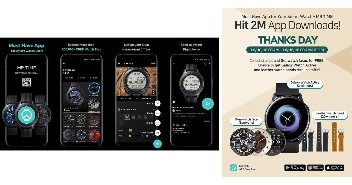 MR TIME app hits 2 million downloads