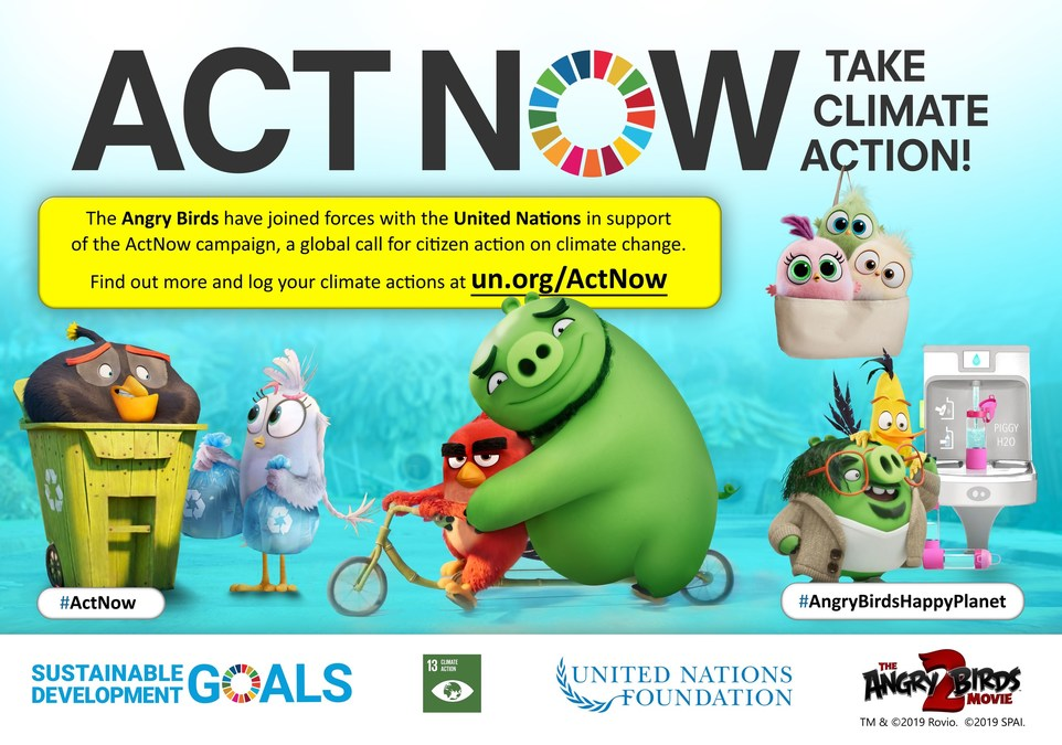 The United Nations and Talent from 'The Angry Birds Movie 2