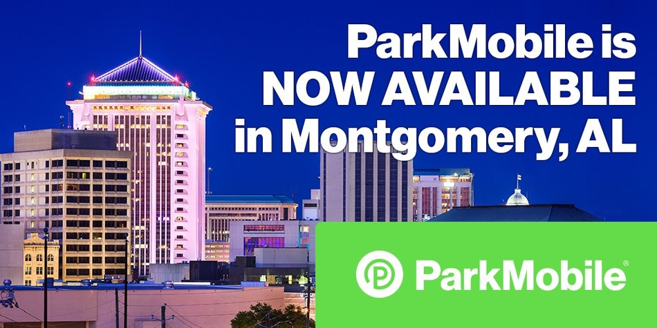 Montgomery, Alabama's partnership with ParkMobile, the nation's leading provider of smart parking and mobility solutions, will trade the hassle of meters and loose change for the convenience of paying for parking from nearly any mobile device.