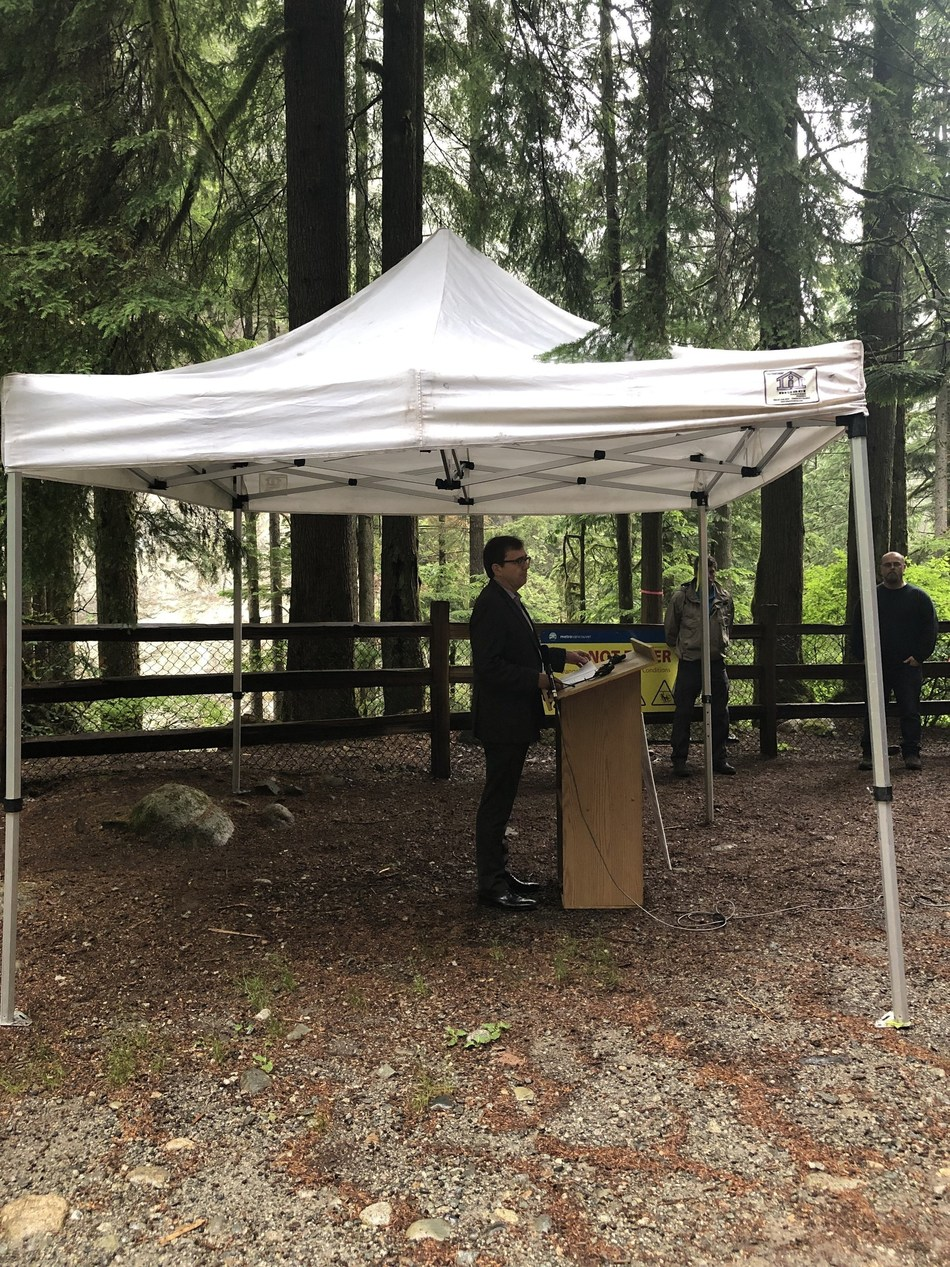 Minister Wilkinson attended the Seymour River Restoration Celebration Event in North Vancouver to recognize all who have worked to ensure fish passage through this important waterway. (CNW Group/Fisheries and Oceans Canada, Pacific Region)