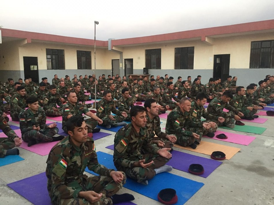 Peshmerga forces that fought ISIS, learn the art of meditation