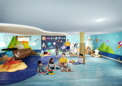The award-winning Adventure Ocean program will be reimagined from top to bottom on board Allure of the Seas. In the new AO Junior area, young guests can enjoy a dedicated, multipurpose space specially designed to deliver experiential adventures for 3- to 5-year-olds.