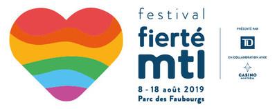 Logo : Festival Fierté Montréal (Groupe CNW/Célébrations de la Fierté Montréal)