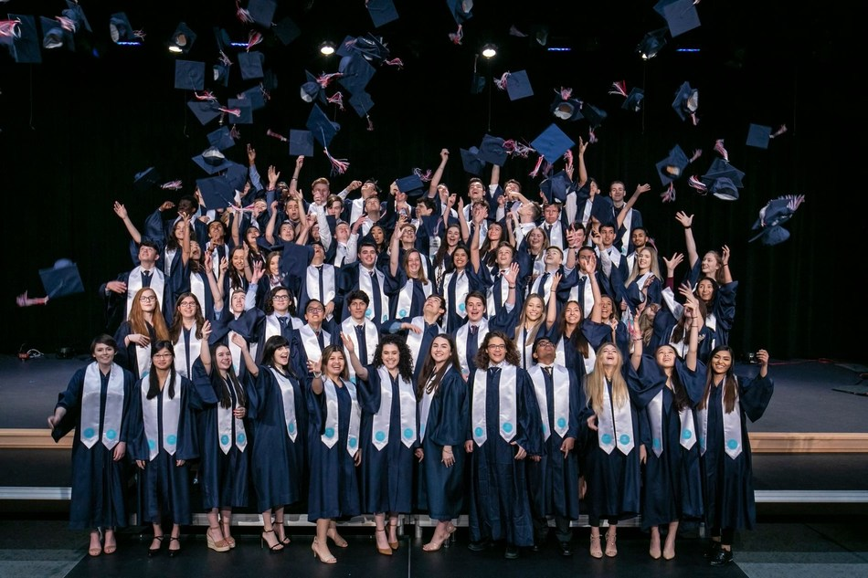 Students from the British International School of Houston, one of the 61 Nord Anglia Education schools worldwide, celebrate at their recent graduation ceremony.