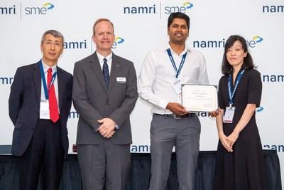 From left: ZJ Pei, PhD, FSME, Texas A&M University; Albert Wavering, FSME, NIST; Sudhanshu Nahata, PhD, ASML US; and Hitomi Yamaguchi, Dr. Eng., FSME, University of Florida