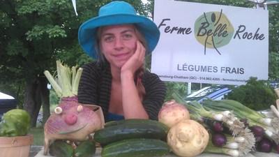 Caroline Bélanger, Ferme Belle Roche (Groupe CNW/La Financière agricole du Québec)