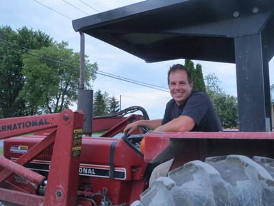 Patrick Leblanc, Ferme Patrick Leblanc (Groupe CNW/La Financière agricole du Québec)
