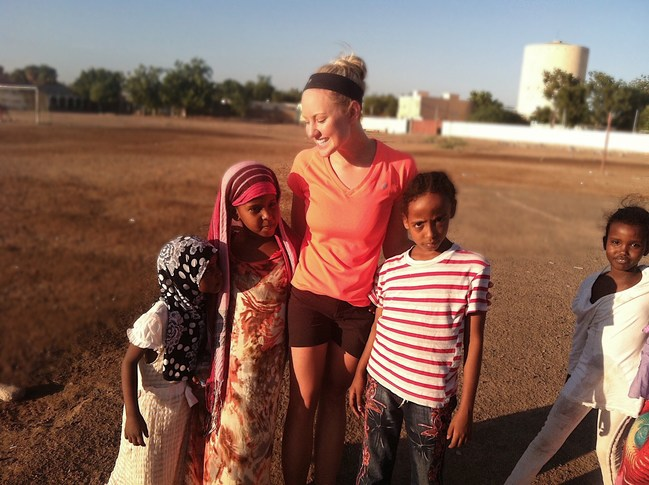 Kerrie Gill at the Orphanage in Africa