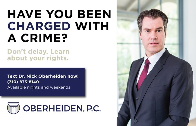 Text Dr. Nick Oberheiden if you have been charged with a crime!