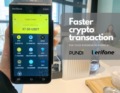 Pundi X successfully completed its integration support for Verifone X990 to enable crypto payments in traditional POS terminals