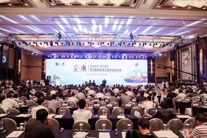 El 5º Foro de Cooperación Internacional de Puertos de la Ruta Marítima de la Seda (MPF) se inició el jueves en la ciudad de Ningbo, en la provincia de Zhejiang, situada en el este de China. (PRNewsfoto/Zhejiang Seaport Group)