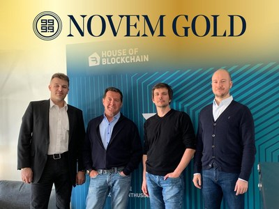 Novem Gold Leadership: (Left to Right) Mario Schober, Founder & Head of Trading, Wolfgang Schmid, Founder & Gold Visionary, Christoph Klocker, CTO, Andreas Kalteis, CEO.