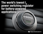 New power switching regulator with the industry's lowest quiescent current extends battery life in Internet of Things designs