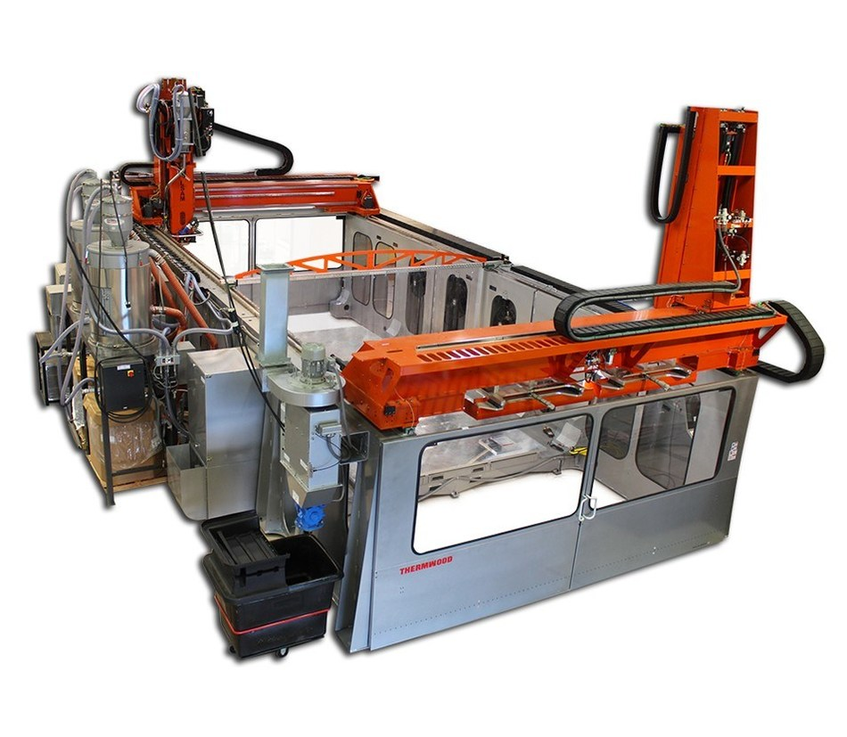 With a 10' x 40' fabrication area, Ascent's LSAM machine will be the largest available in the aerospace market, allowing for both the printing and machining of a wide range of thermoplastic composite materials. (Photo courtesy of Thermwood Corporation)