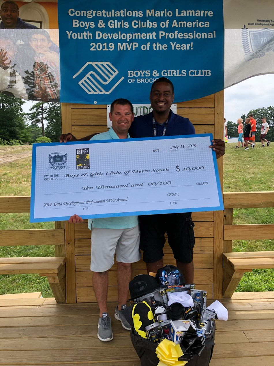 Mario Lamarre, of Brockton, Mass., has been named the 2019 Boys & Girls Clubs of America Youth Development Professional MVP for his dedication and hard work to keep youth on the path to achieve great futures. In celebration of 80 years of Batman, Boys & Girls Clubs of America joined DC in a first-ever partnership to recognize kids, teens and youth development professionals who stand up for positive change in their communities – just like Batman.