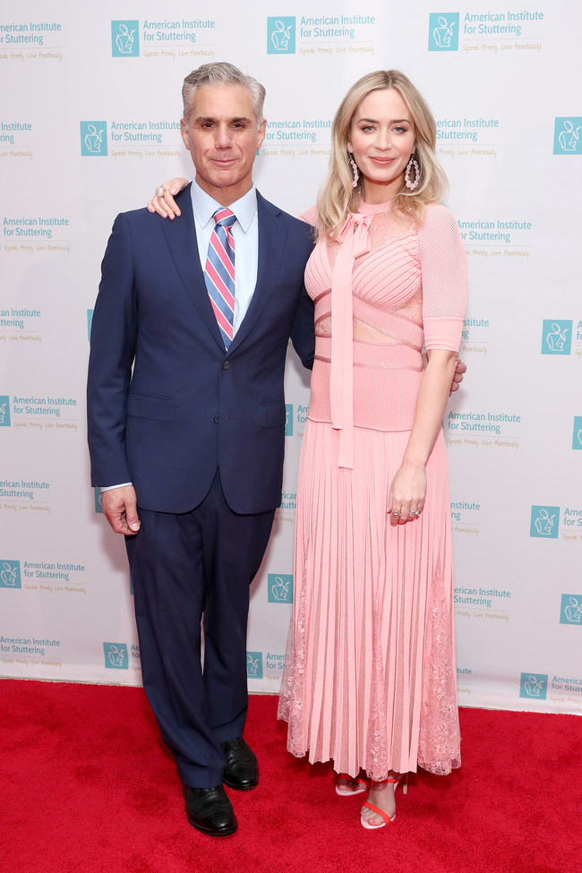 Chairman of the AIS Board of Directors and General Counsel of The Guardian Life Insurance Company, Eric Dinallo and actress and AIS Board Member, Emily Blunt