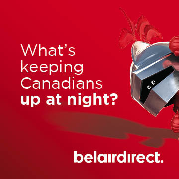 What's keeping Canadians up at night? (CNW Group/belairdirect)