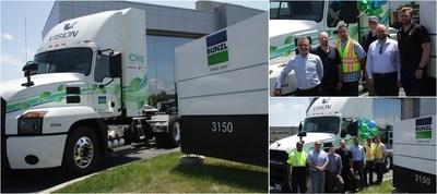 Bunzl Canada lance un projet pilote de véhicule fonctionnant au gaz naturel afin de réduire son empreinte écologique (Groupe CNW/Bunzl Canada)