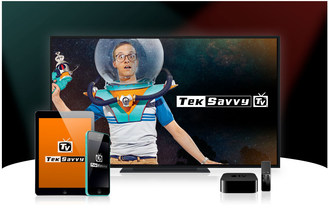 TekSavvy TV is the television that you know and love but different, in a good way. With over 115 HD channels, you can watch your favourite series, movies, teams and cartoons on your compatiable TV or mobile device by downloading the TekSavvy TV app from your device's app store. (CNW Group/TekSavvy Solutions Inc.)