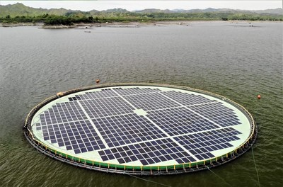GCL took part in  Philippines first 200kw floating solar power project