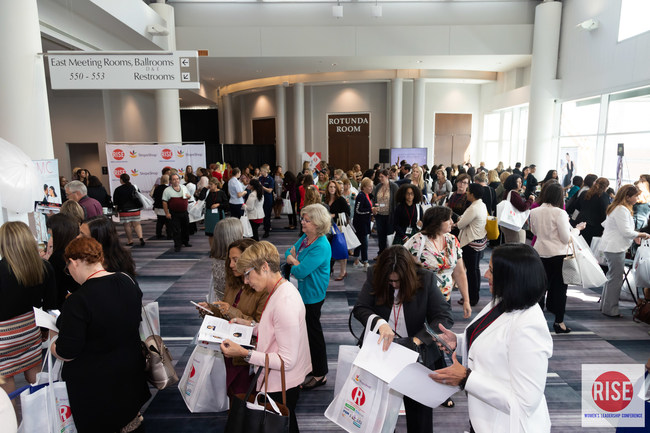 The buzz and excitement at The R.I.S.E. Women's Leadership Conference Marketplace!