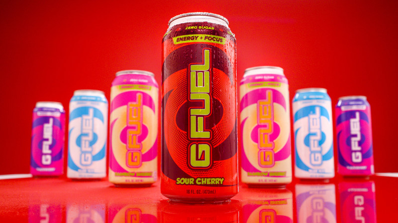 G Fuel is The Official Energy Drink of Esports®. G Fuel in 16-ounce cans come in four of the company's most popular and delicious flavors: Fazeberry®, Blue Ice, Sour Cherry, and Rainbow Sherbet. Get yours today at gfuel.com.