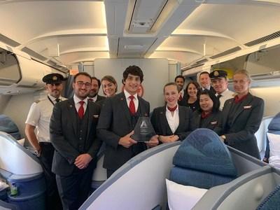 Air Canada a remporté le premier prix de la « diversité en matière de leadership » aux Airline Strategy Awards de 2019 à Londres. (Groupe CNW/Air Canada)