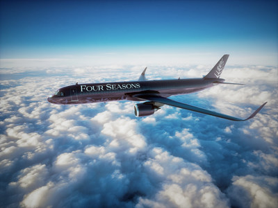 The all-new custom-built Four Seasons Private Jet will take its inaugural flight in 2021.