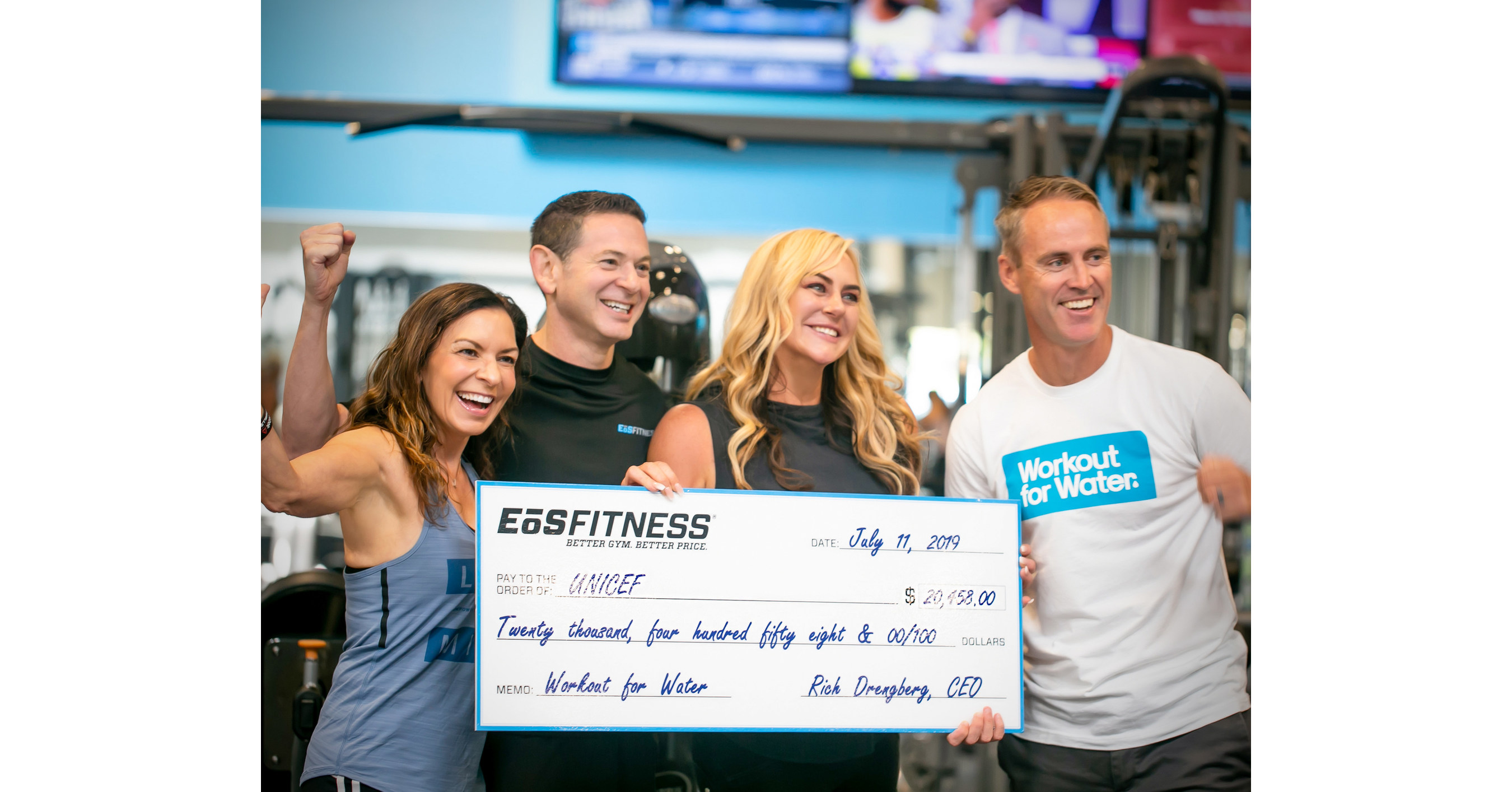 Eōs Fitness Donates Over 20 000 To Workout For Water